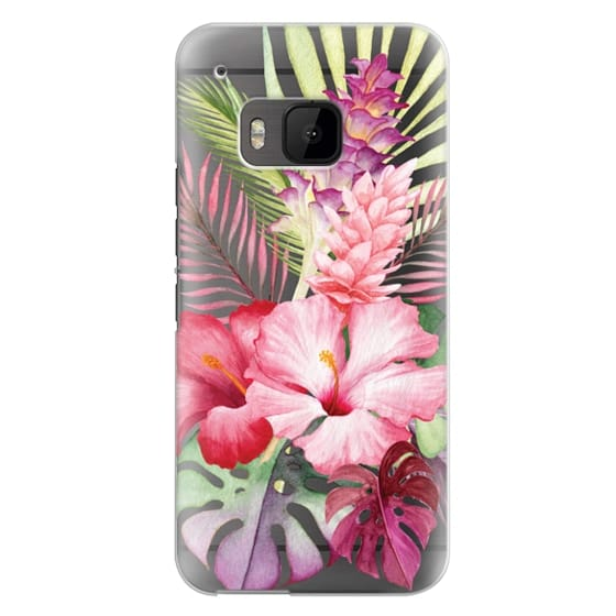 Watercolor Tropical Pink Floral