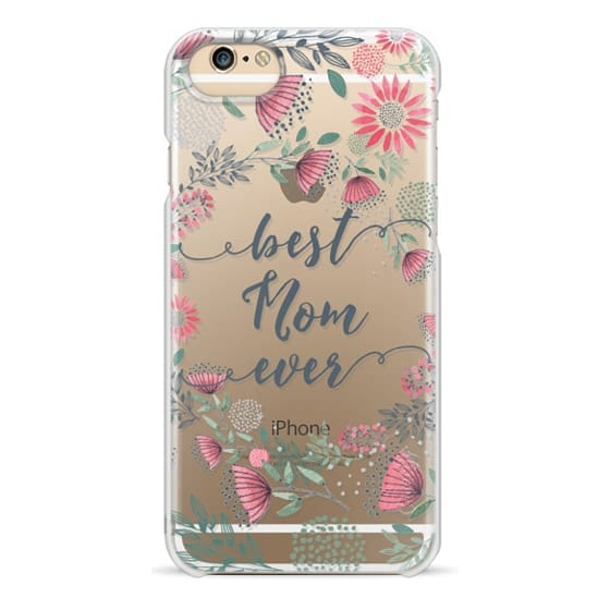 iPhone 6 Cases - Best Mom Ever Watercolor Floral Pink and Green