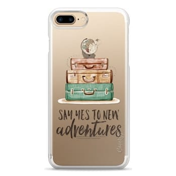 Snap iPhone 7 Plus Case - Watercolour Travel World Globe - Say Yes to New Adventures
