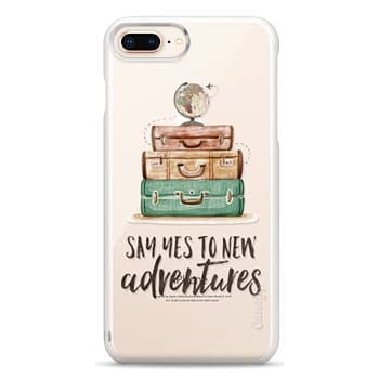 Snap iPhone 8 Plus Case - Watercolour Travel World Globe - Say Yes to New Adventures
