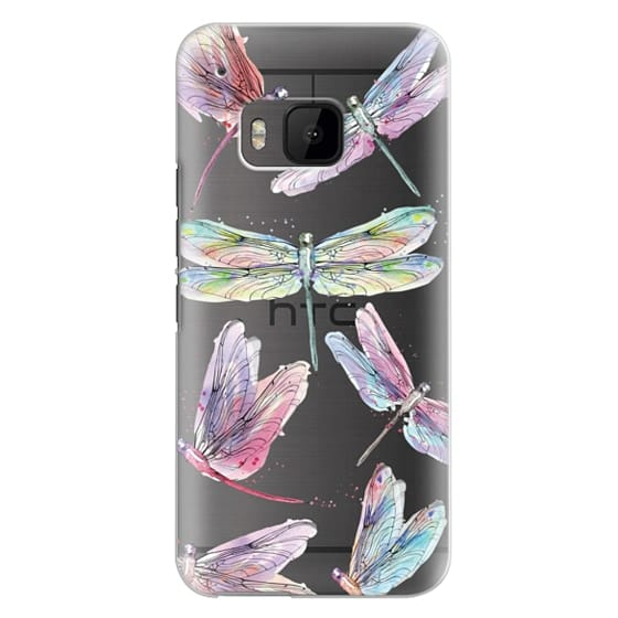 Htc One M9 Cases - Watercolor Dragonflies