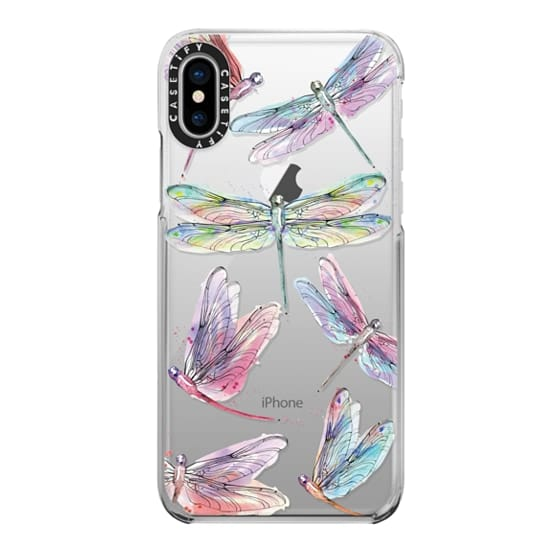 iPhone X Cases - Watercolor Dragonflies