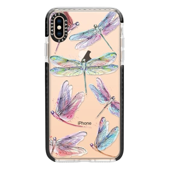 iPhone XS Max Cases - Watercolor Dragonflies