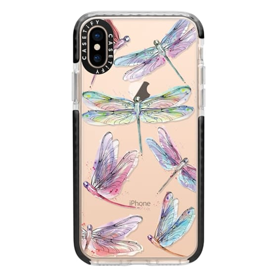 iPhone XS Cases - Watercolor Dragonflies
