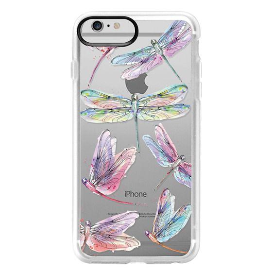 iPhone 6 Plus Cases - Watercolor Dragonflies