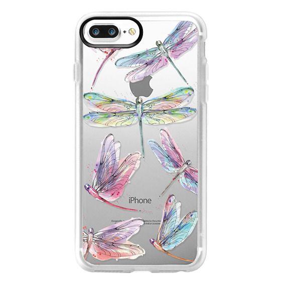 iPhone 7 Plus Cases - Watercolor Dragonflies