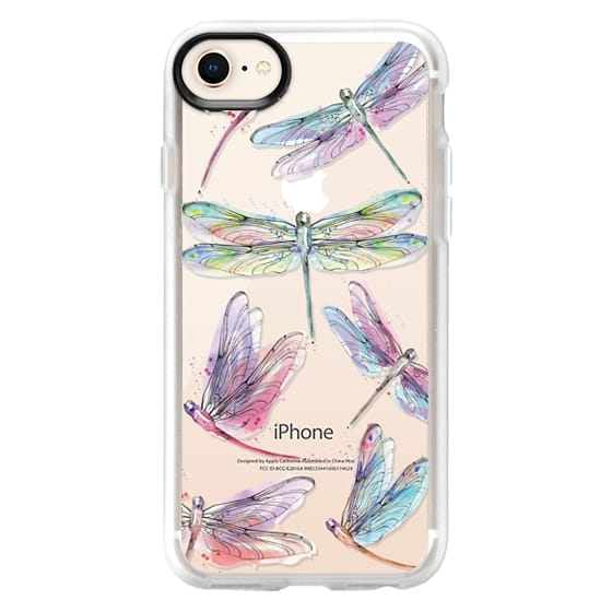 iPhone 8 Cases - Watercolor Dragonflies