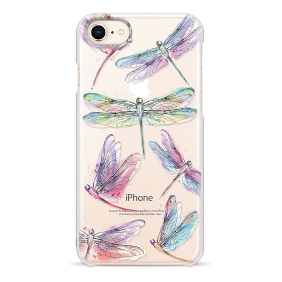 iPhone 8 Cases - Watercolor Dragonflies