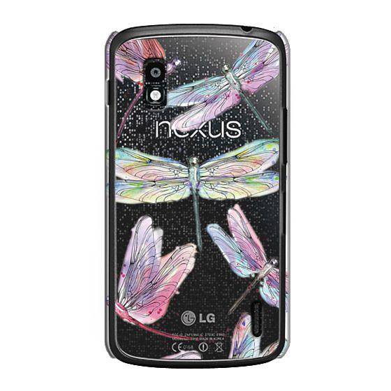 Nexus 4 Cases - Watercolor Dragonflies