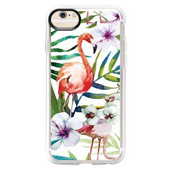 Grip iPhone 6 Case - Tropical Flamingo