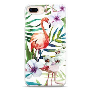 Snap iPhone 8 Plus Case - Tropical Flamingo