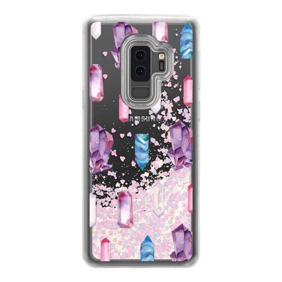 Samsung Galaxy S9 Plus Cases - Watercolor Crystals
