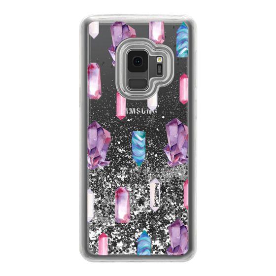 Samsung Galaxy S9 Cases - Watercolor Crystals