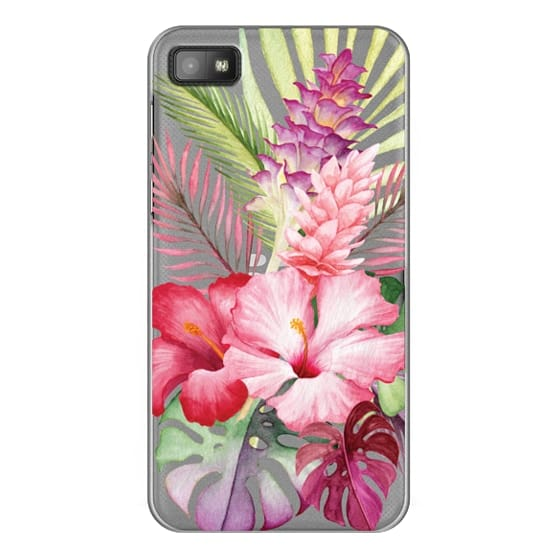 Blackberry Z10 Cases - Watercolor Tropical Pink Floral