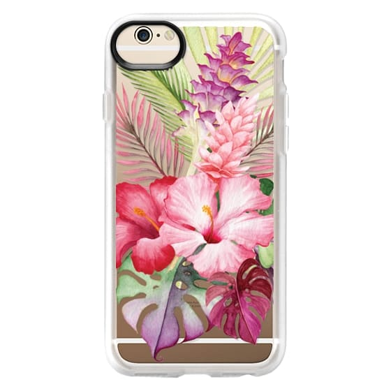 iPhone 6 Cases - Watercolor Tropical Pink Floral