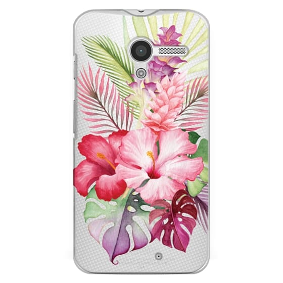 Moto X Cases - Watercolor Tropical Pink Floral
