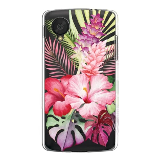 Nexus 5 Cases - Watercolor Tropical Pink Floral