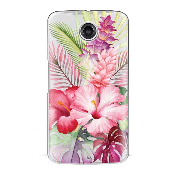 Nexus 6 Cases - Watercolor Tropical Pink Floral