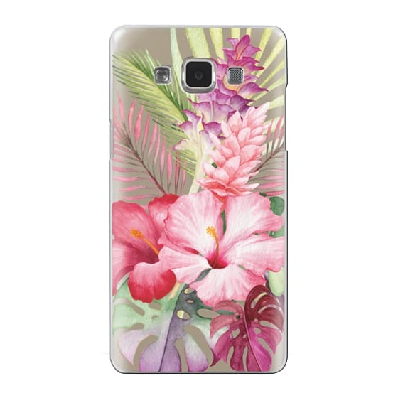 Samsung Galaxy A5 Cases - Watercolor Tropical Pink Floral