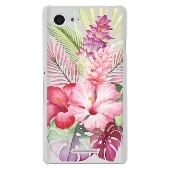 Sony E3 Cases - Watercolor Tropical Pink Floral