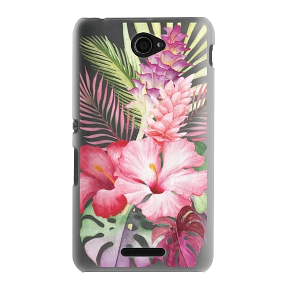 Sony E4 Cases - Watercolor Tropical Pink Floral