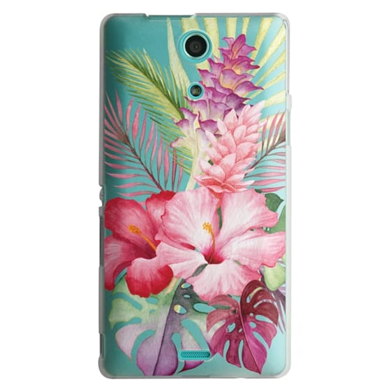 Sony Zr Cases - Watercolor Tropical Pink Floral
