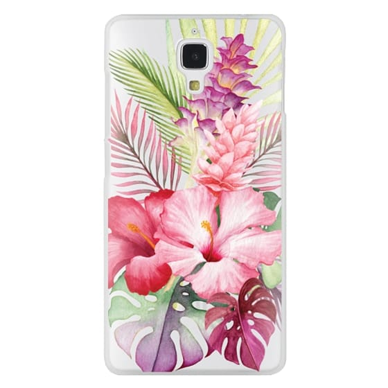 Xiaomi 4 Cases - Watercolor Tropical Pink Floral