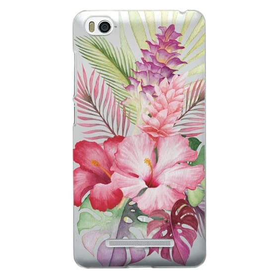 Xiaomi 4i Cases - Watercolor Tropical Pink Floral
