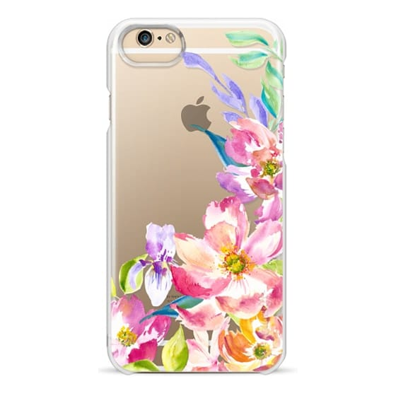 iPhone 6 Cases - Bright Watercolor Floral Summer Garden