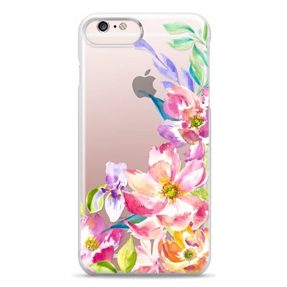 iPhone 6s Plus Cases - Bright Watercolor Floral Summer Garden