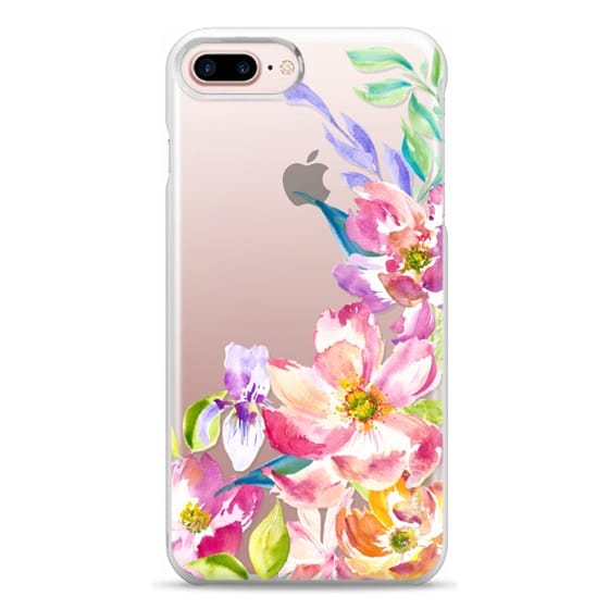 iPhone 7 Plus Cases - Bright Watercolor Floral Summer Garden