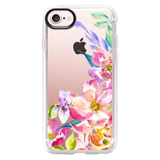 iPhone 4 Cases - Bright Watercolor Floral Summer Garden
