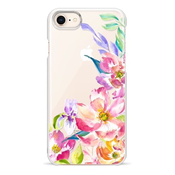 iPhone 8 Cases - Bright Watercolor Floral Summer Garden