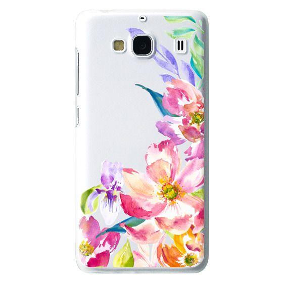 Redmi 2 Cases - Bright Watercolor Floral Summer Garden