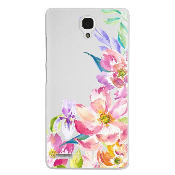 Redmi Note Cases - Bright Watercolor Floral Summer Garden