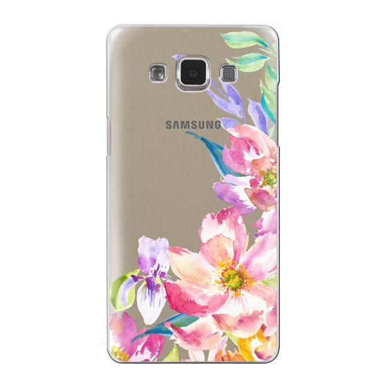 Samsung Galaxy A5 Cases - Bright Watercolor Floral Summer Garden