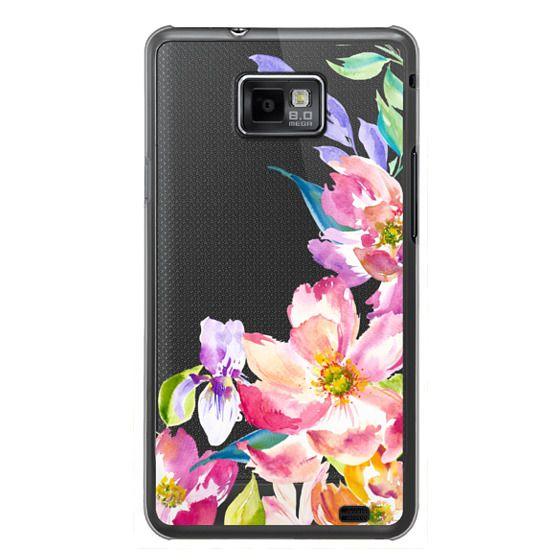 Samsung Galaxy S2 Cases - Bright Watercolor Floral Summer Garden