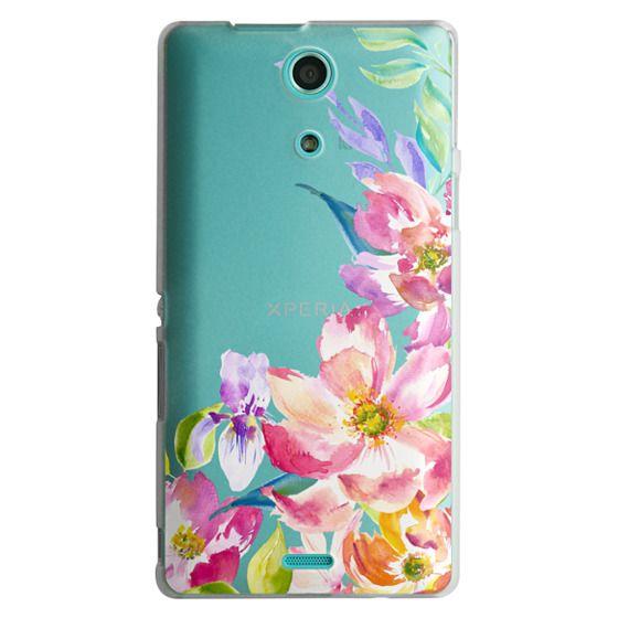 Sony Zr Cases - Bright Watercolor Floral Summer Garden