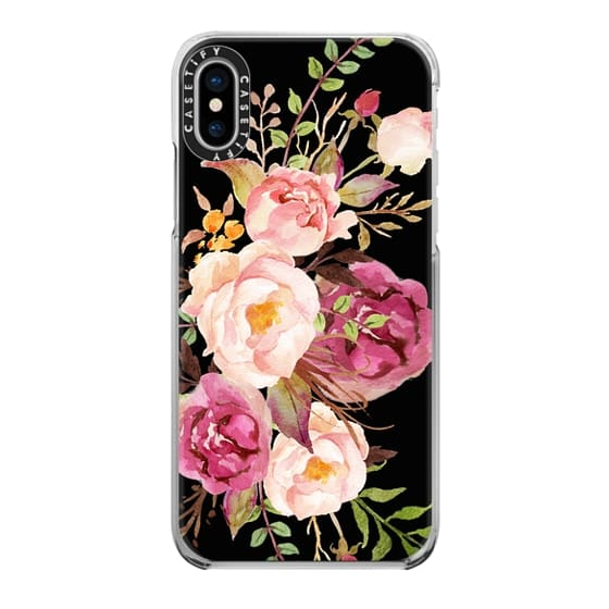 iPhone X Cases - Watercolour Floral Bouquet