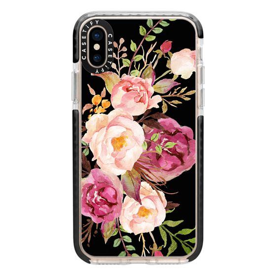 iPhone XS Cases - Watercolour Floral Bouquet