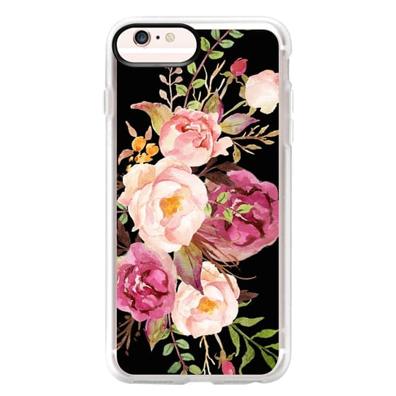 iPhone 6s Plus Cases - Watercolour Floral Bouquet