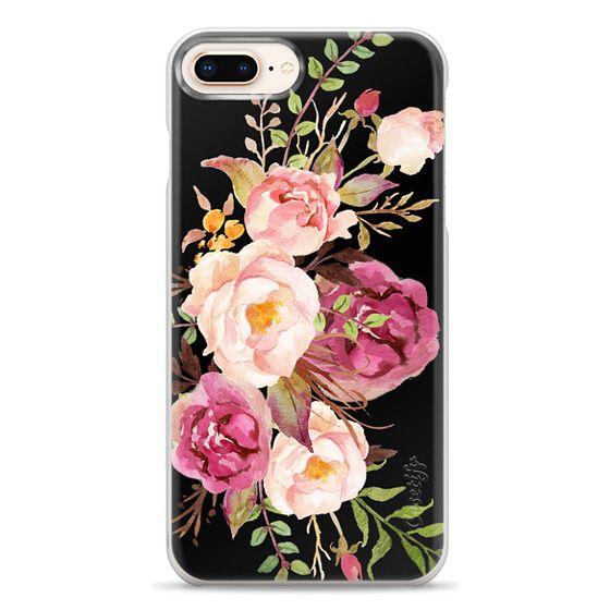 iPhone 8 Plus Cases - Watercolour Floral Bouquet