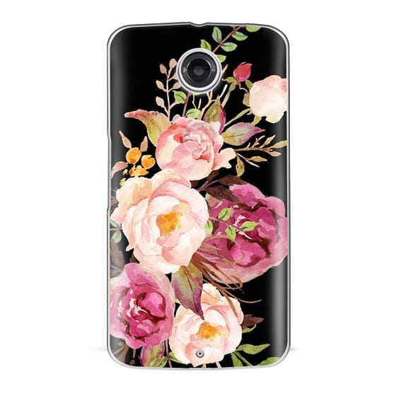 Nexus 6 Cases - Watercolour Floral Bouquet