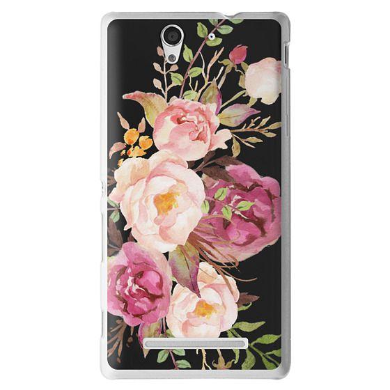 Sony C3 Cases - Watercolour Floral Bouquet