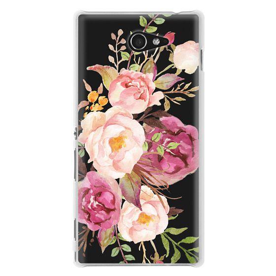 Sony M2 Cases - Watercolour Floral Bouquet