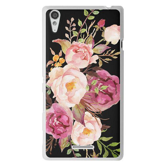 Sony T3 Cases - Watercolour Floral Bouquet