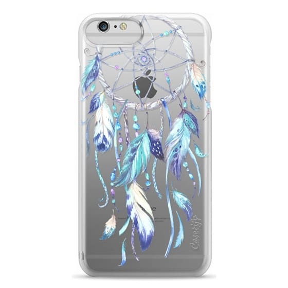 iPhone 6 Plus Cases - Watercolor Blue Dreamcatcher Feather Dream Catcher
