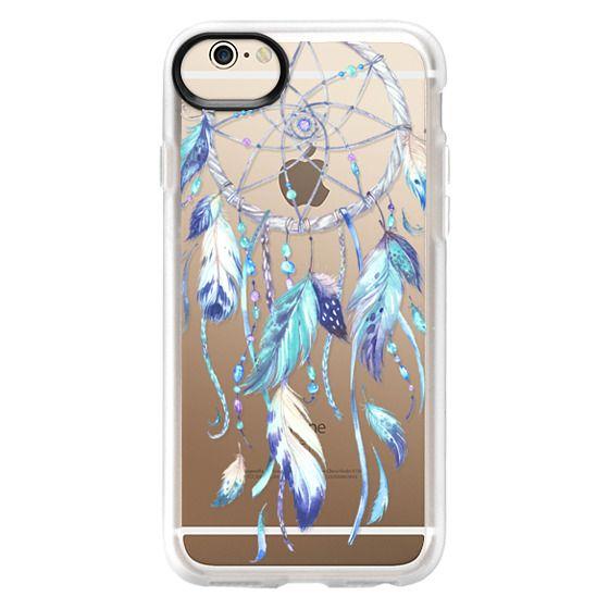 iPhone 6 Cases - Watercolor Blue Dreamcatcher Feather Dream Catcher