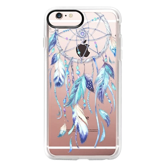 iPhone 6s Plus Cases - Watercolor Blue Dreamcatcher Feather Dream Catcher