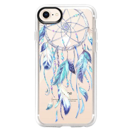 iPhone 8 Cases - Watercolor Blue Dreamcatcher Feather Dream Catcher